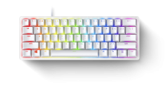 Razer HUNTSMAN MINI MERCURY ED. - 60% Opto Mechanical Gaming Keyboard Purple Switch - US Layout